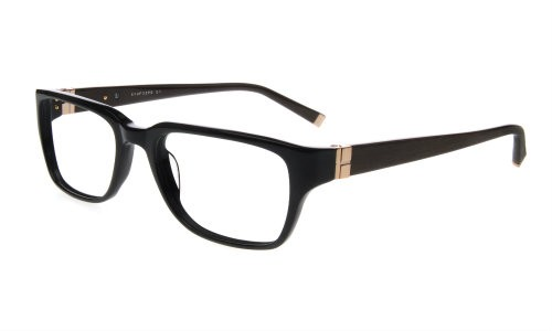 Lazzaro eyewear Oliver matte black mens tendy plastic frames